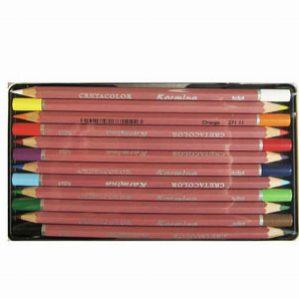 مداد رنگی 12 رنگ جعبه فلزی کرتاکالر