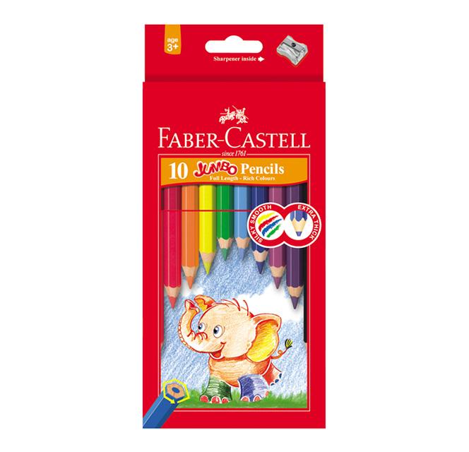 مداد رنگی جامبو طرح فیل فابرکاستل
