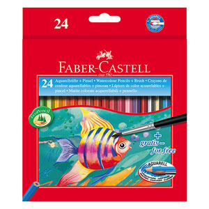 مداد آبرنگی جعبه مقوایی طرح ماهی فابرکاستل