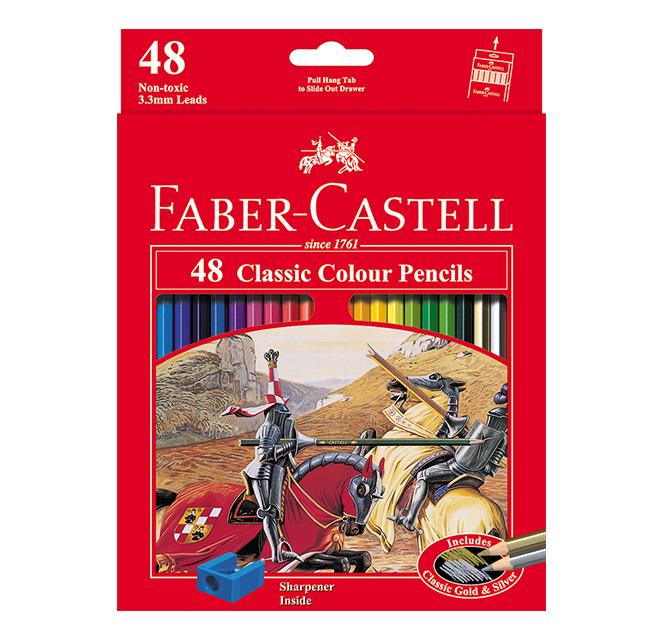 مداد رنگی کلاسیک جعبه مقوایی تخت فابرکاستل