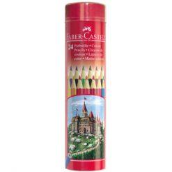 مداد رنگی جعبه فلزی استوانه ای طرح قلعه فابرکاستل
